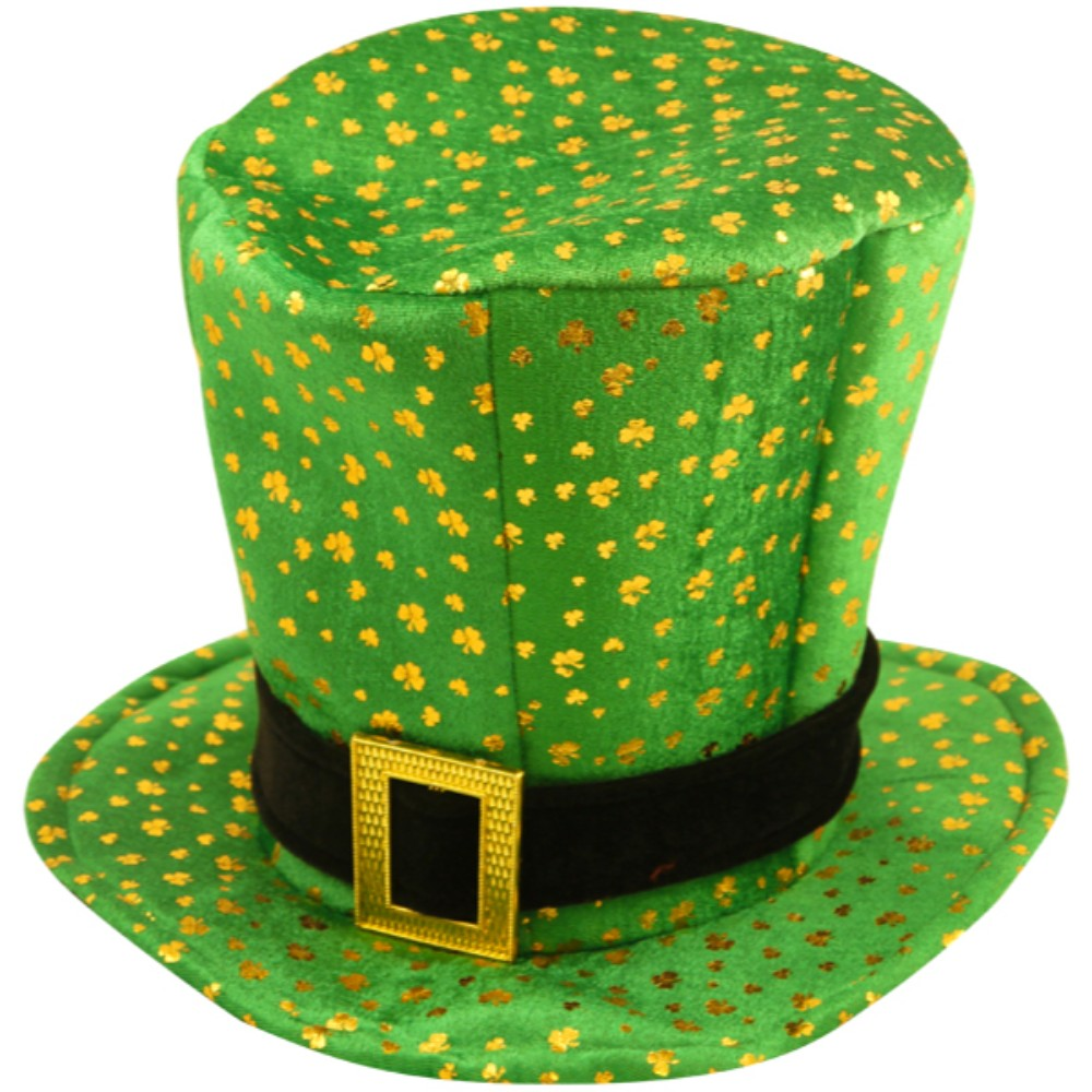 Hat Topper Irish with Buckle And Shamrock Adult