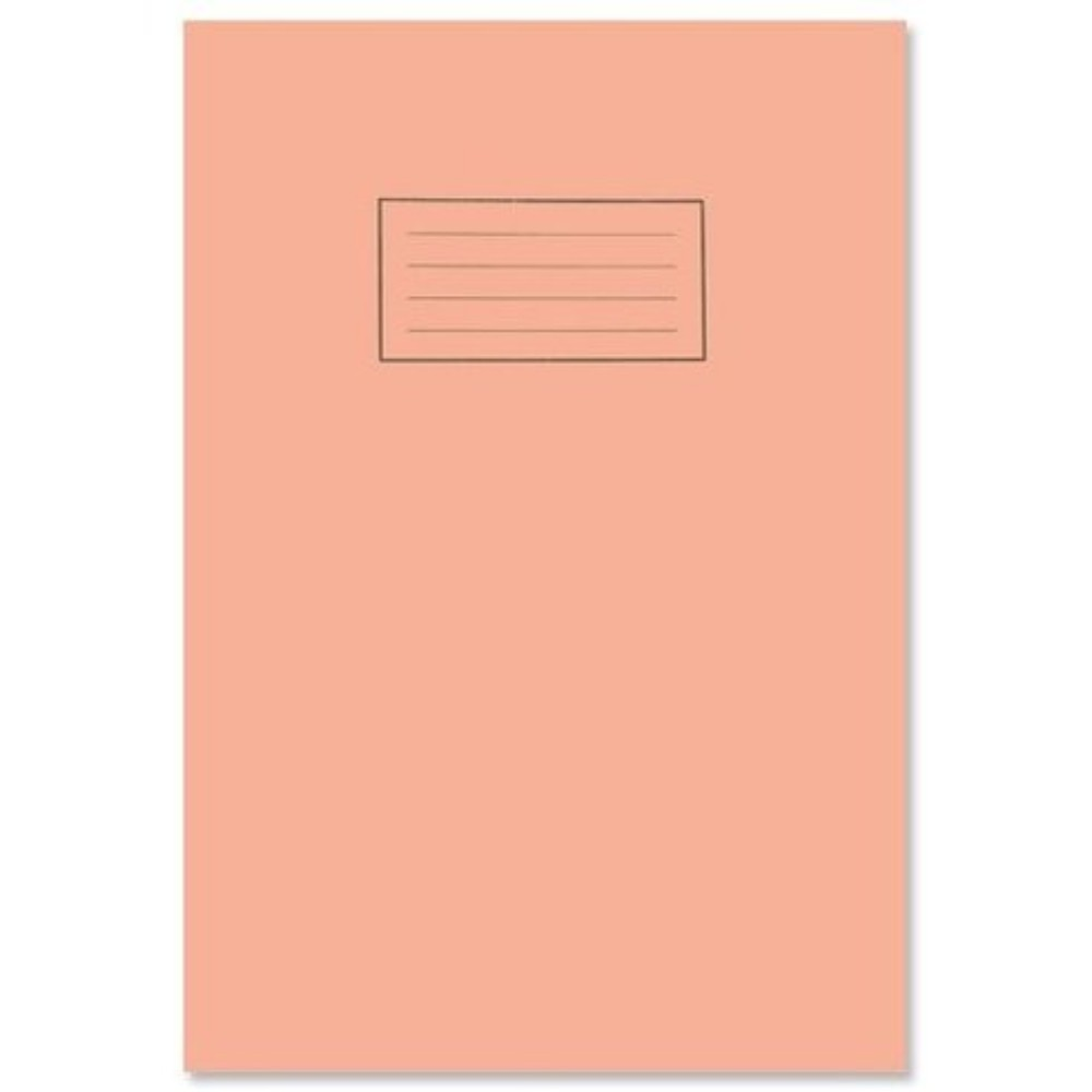 A4 Orange 5mm Square Inner Exercise Book