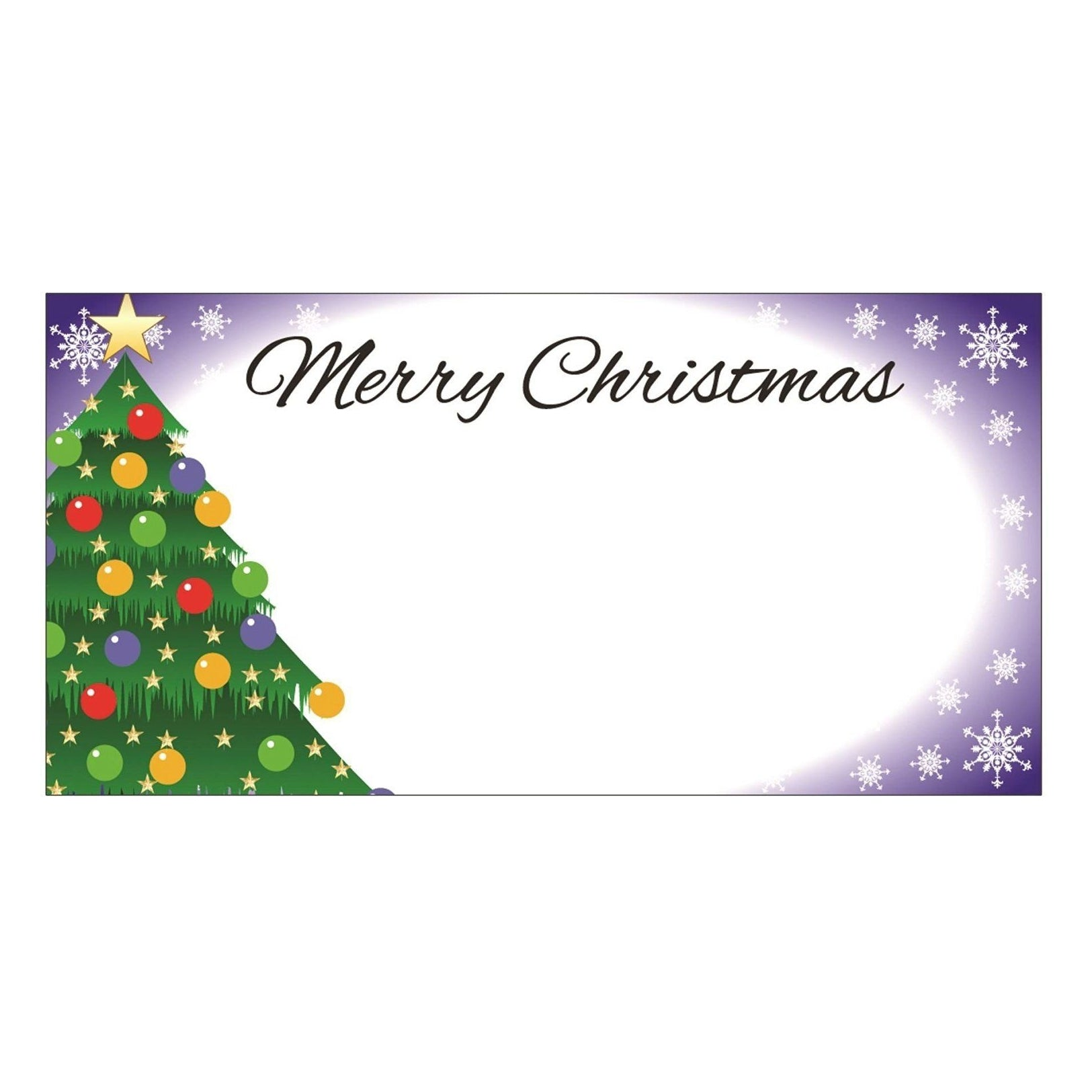Pack of 50 Purple Christmas Table Place Cards Name Number Settings