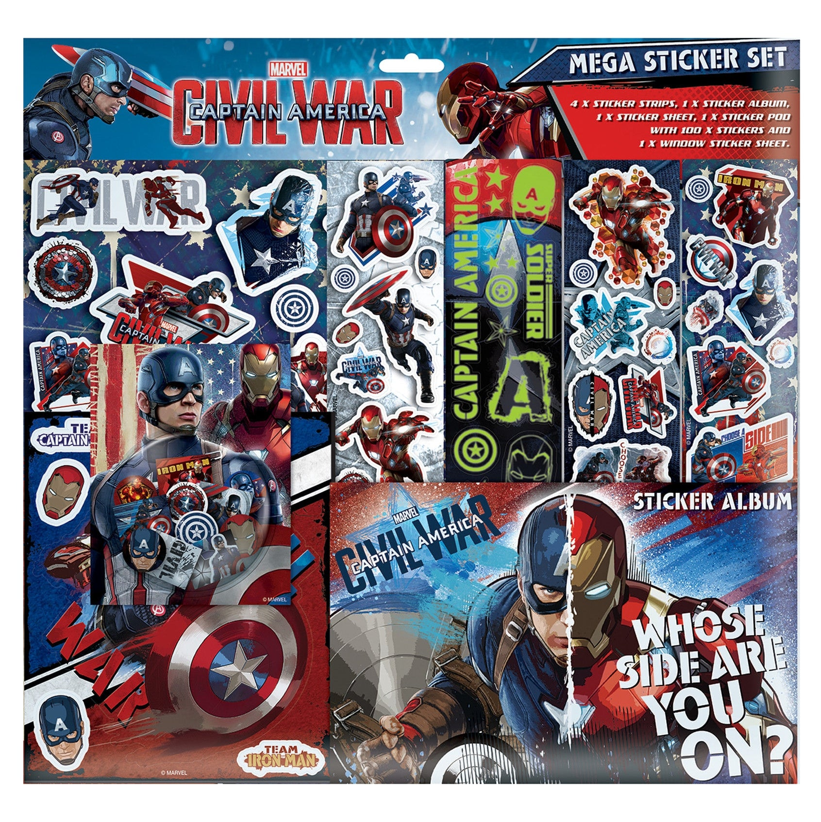 Captain America Mega Sticker Set