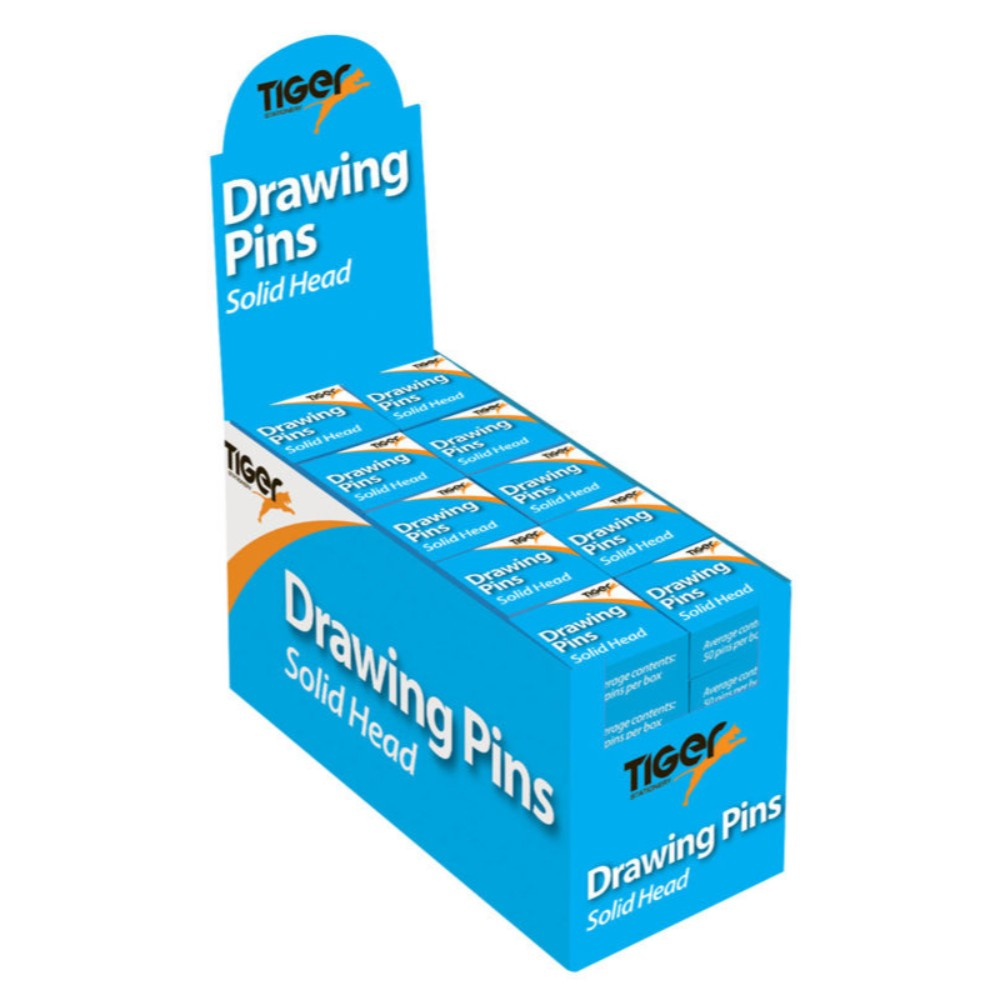 50 Boxes of 50 Pack Brass Drawing Pins