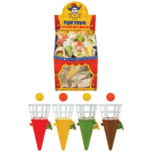 Pack of 48 Game Click Catch 7cm Assorted Colours