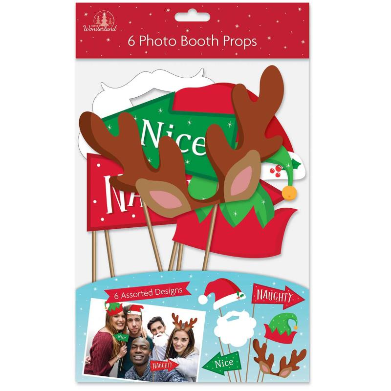 Pack of 6 Christmas Photo Booth Props