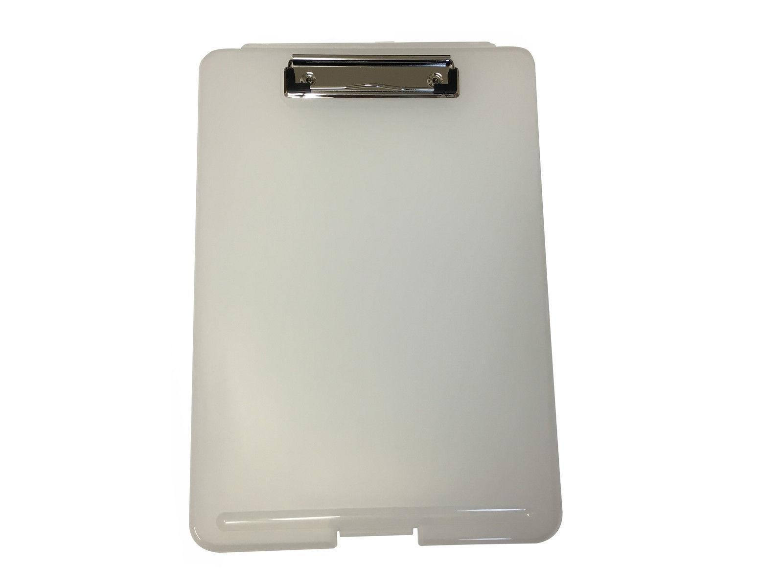A4 Clear Clipboard Box File - Storage Filing Case