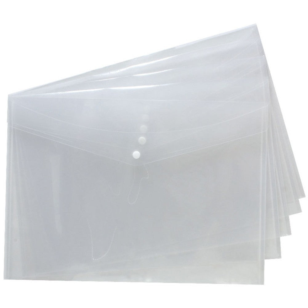 Pack of 25 A3 Clear Document Wallets