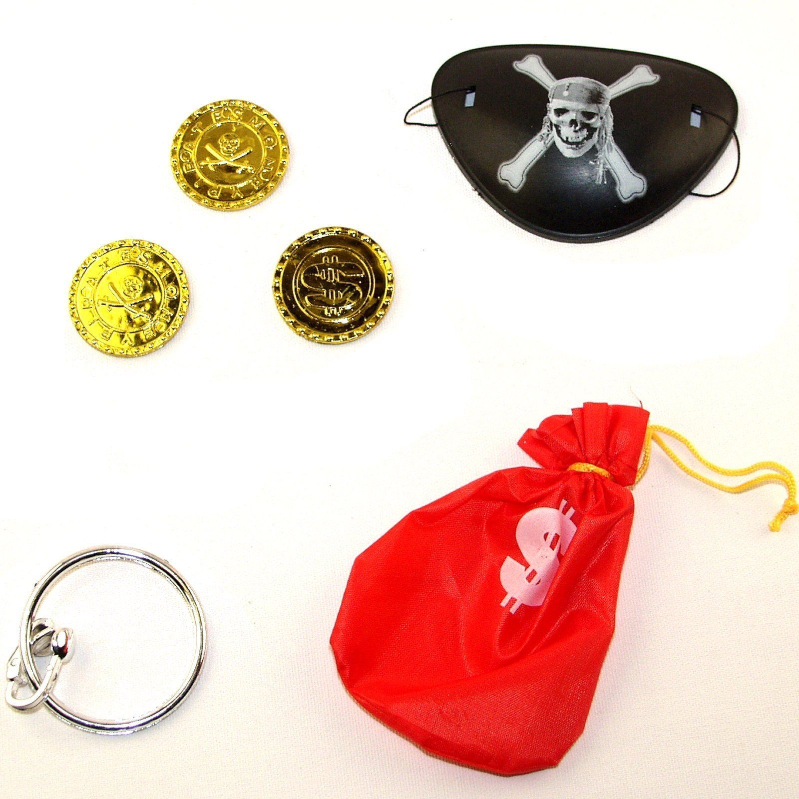 Pirate Money Bag 9Cm With Coins Set