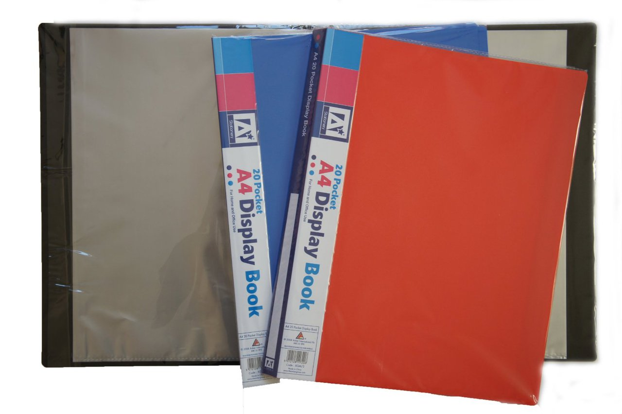 A4 Display Book 20 Pocket for Home and Office Use