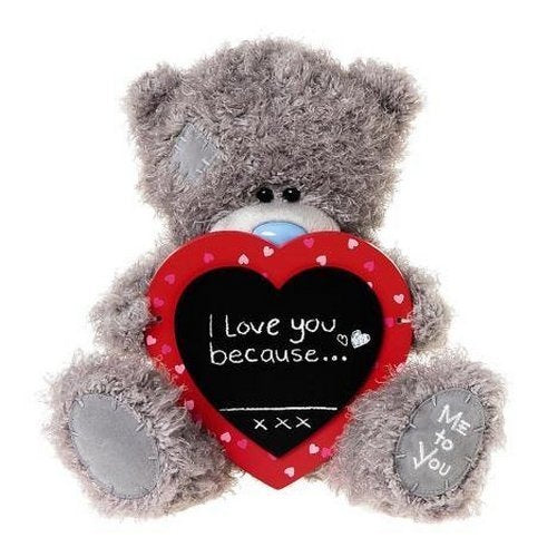 "Me to You 10"" Valentine's Soft Plush Bear with Chalk Board Message"