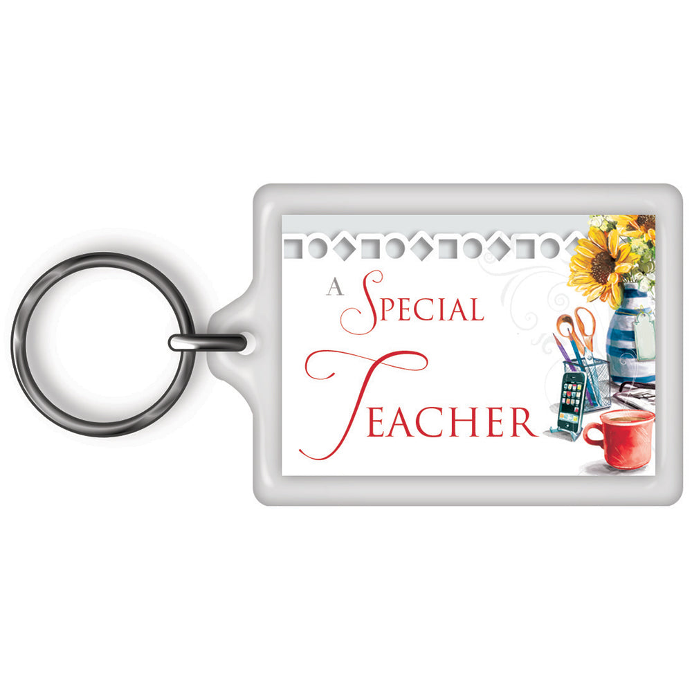 A Special Teacher Celebrity Style World's Best Keyring