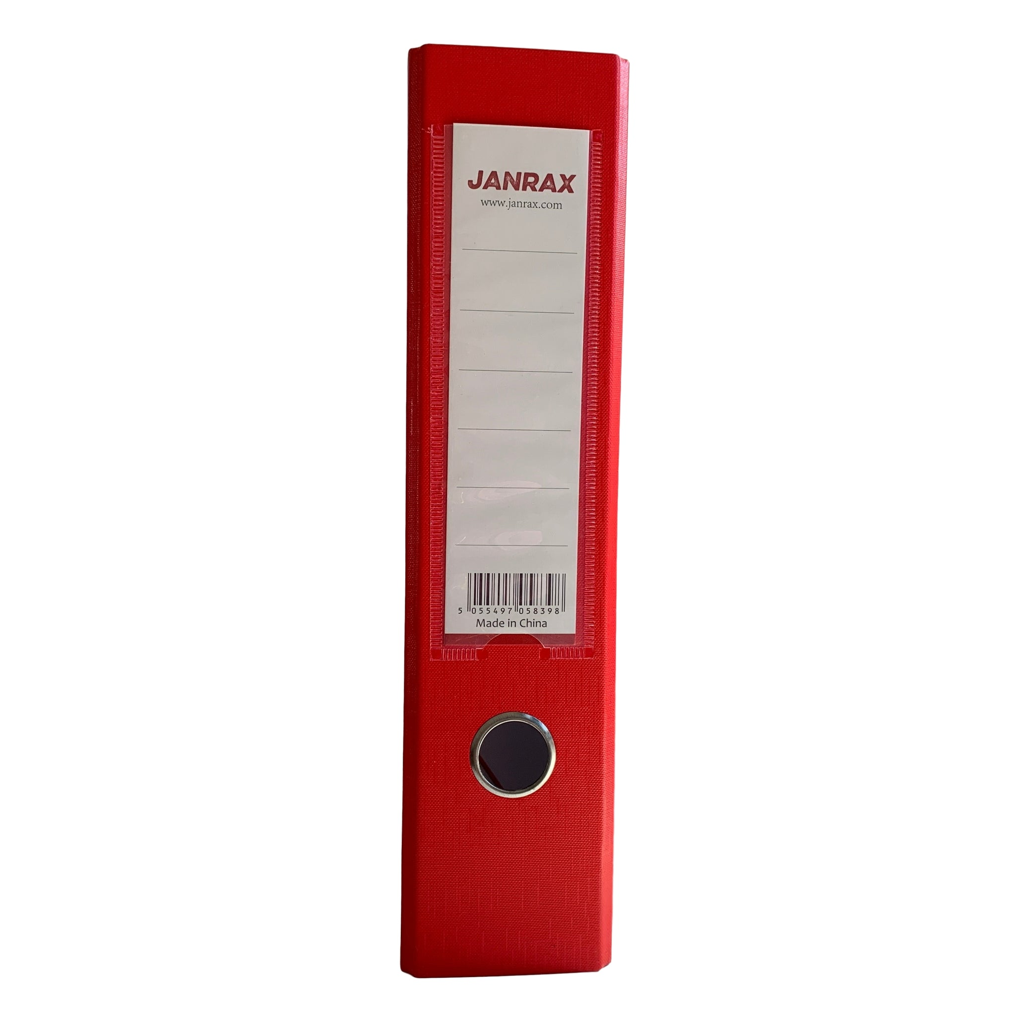 Pack of 10 A4 Red Paperbacked Lever Arch Files by Janrax