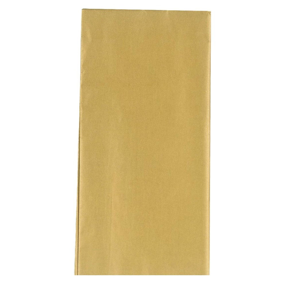 Gold Metallic Crepe Paper Folded 1.5m x 50cm