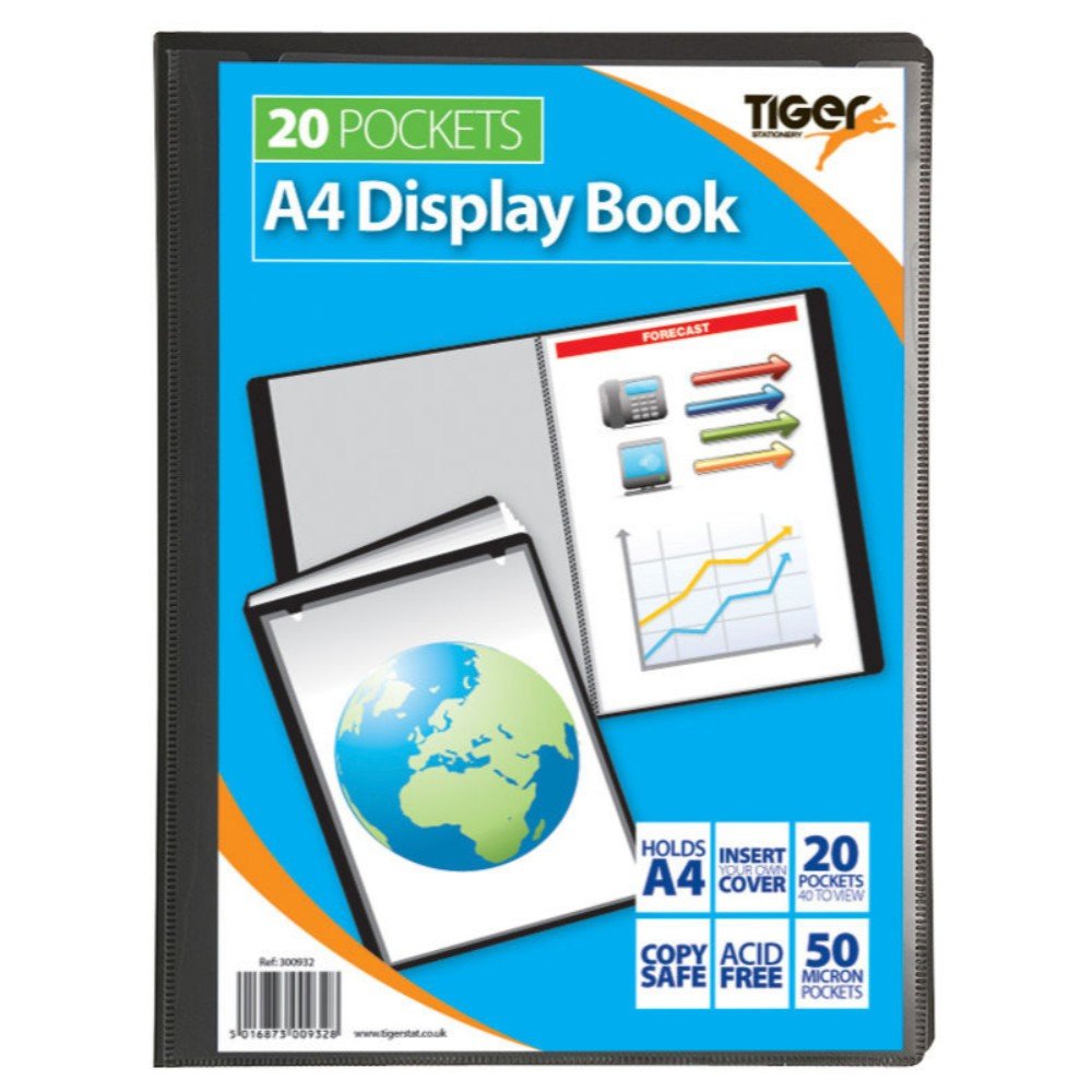 Tiger A4 20 Pocket Presentation Display Book