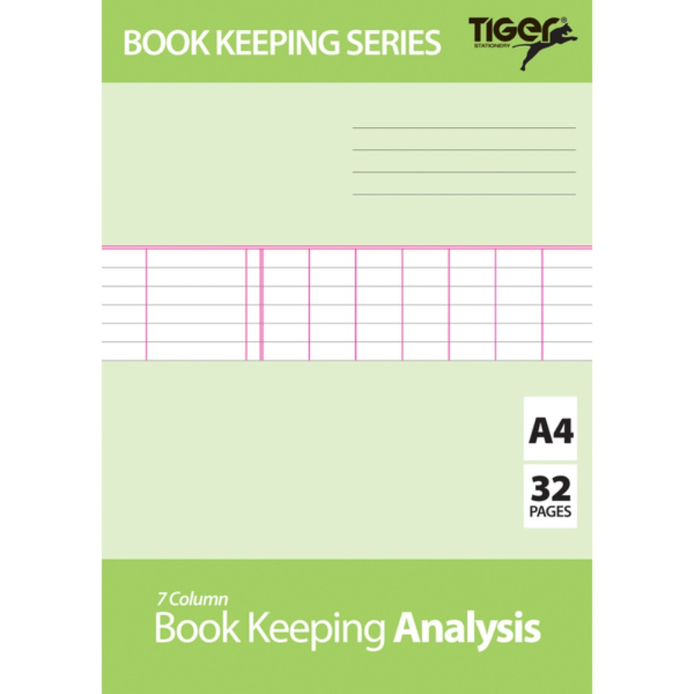 A4 Book Keeping Analysis Book