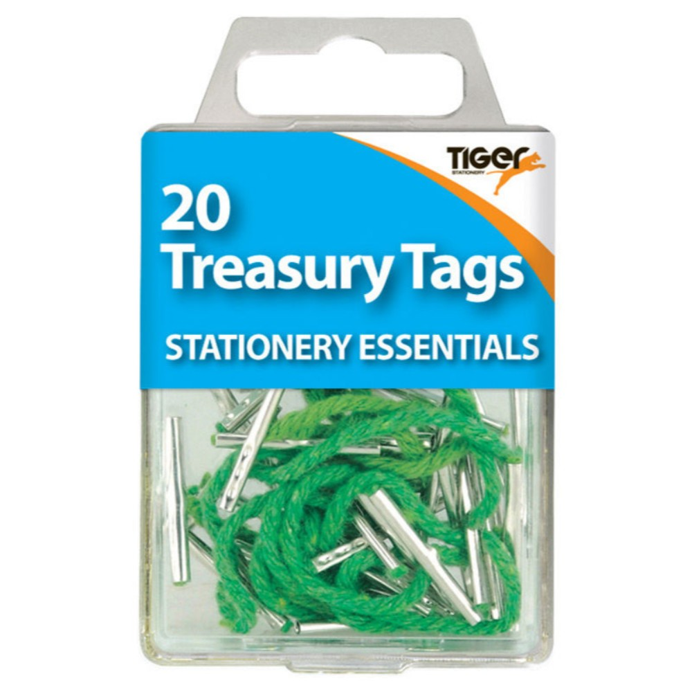 Pack of 20 Steel Ended Treasury Tags