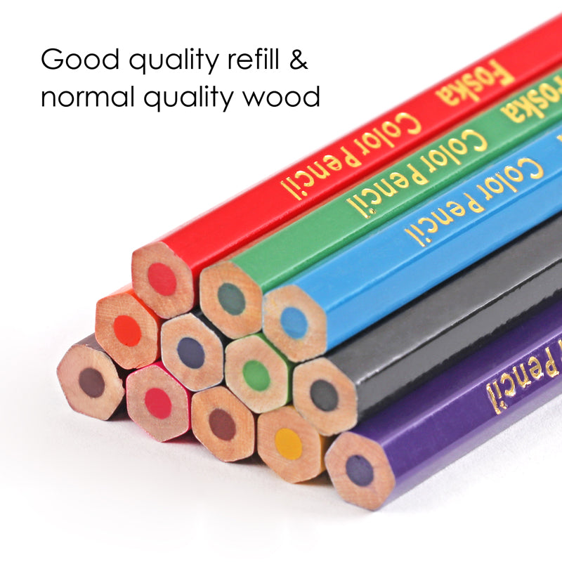 Pack of 12 Half Colouring Pencils