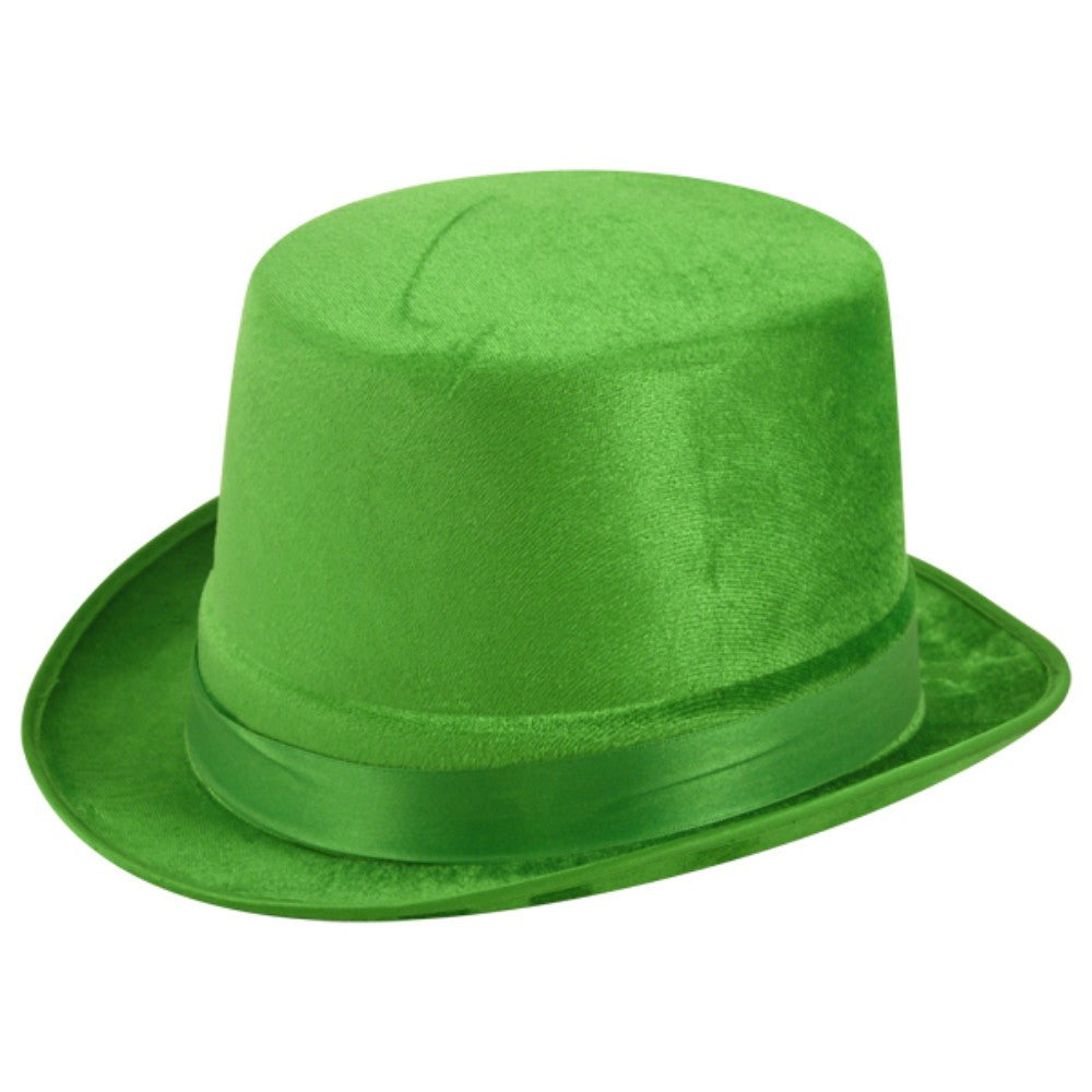 Hat Topper Velour Green Adult