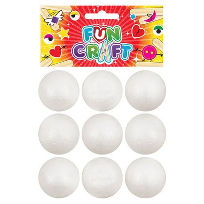 12 Packs of Craft Kit Foam Balls 9 Pcs 38mm