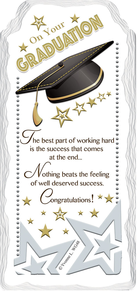 Congratulation On Your Graduation Sentimental Handcrafted Ceramic Plaque