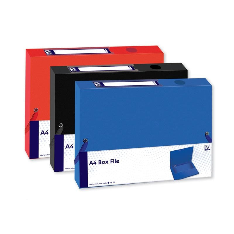 A4 Box File With Elastic Closures