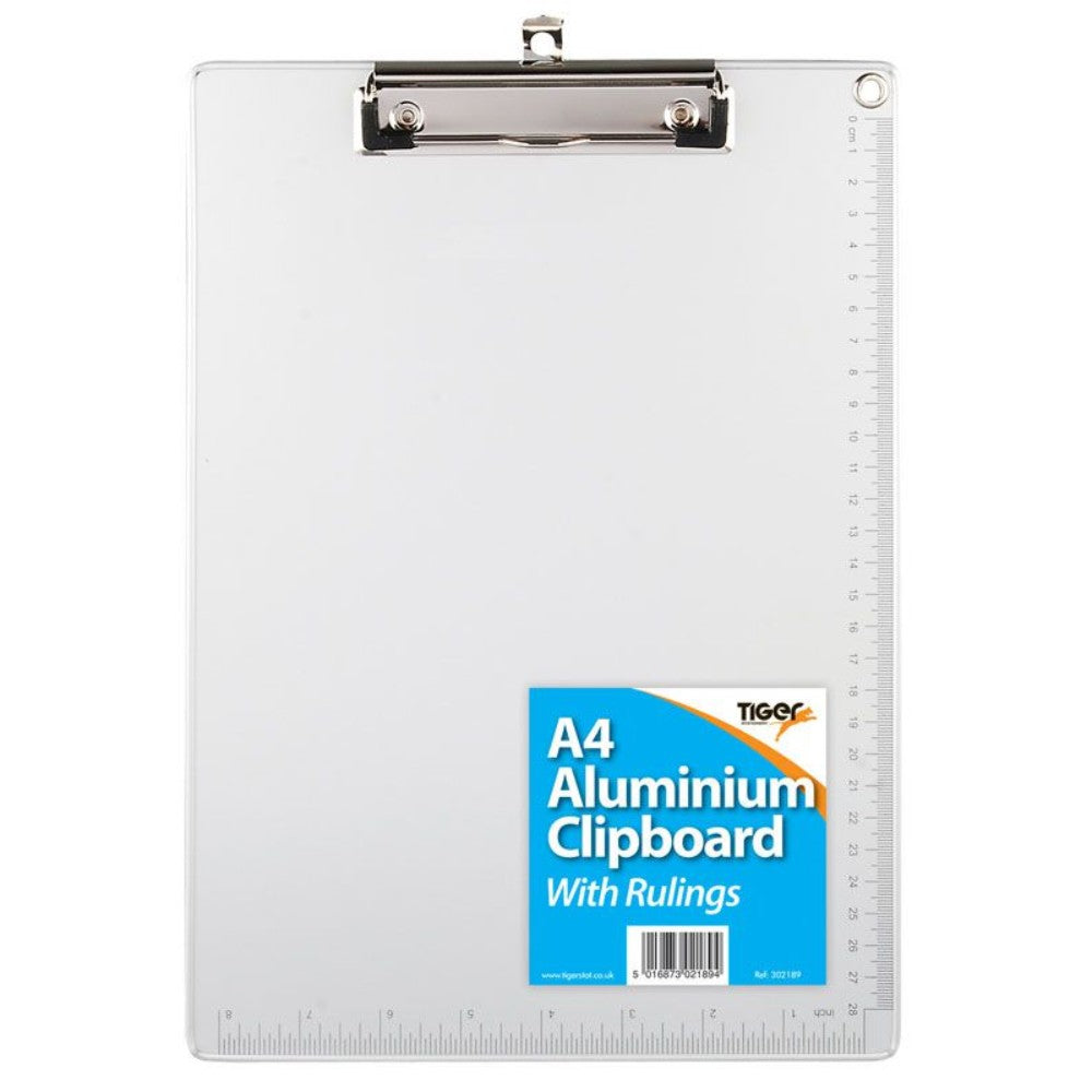 A4 Aluminium Clipboard with Rulings