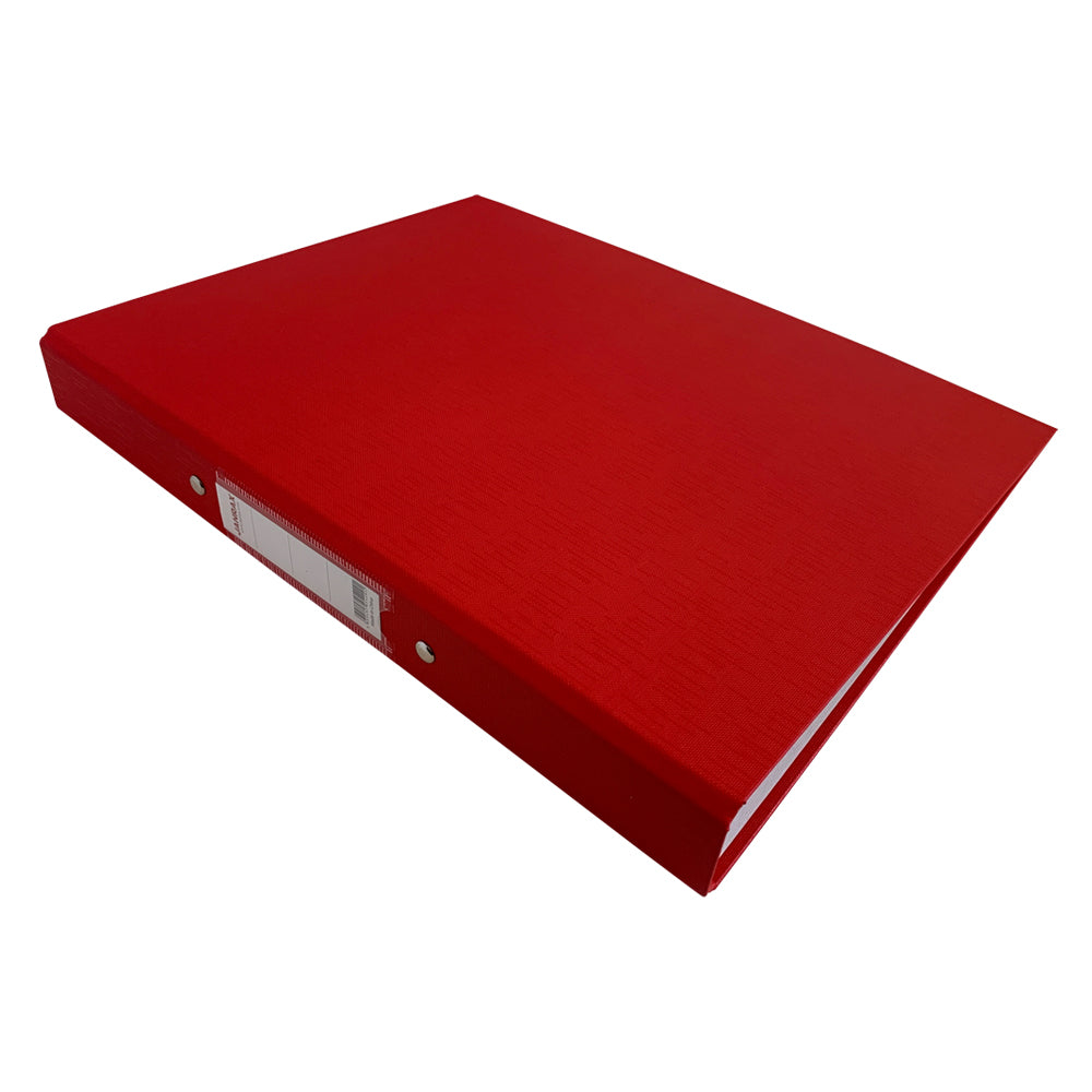 Pack of 10 A4 Red Paper Over Board Ring Binders by Janrax