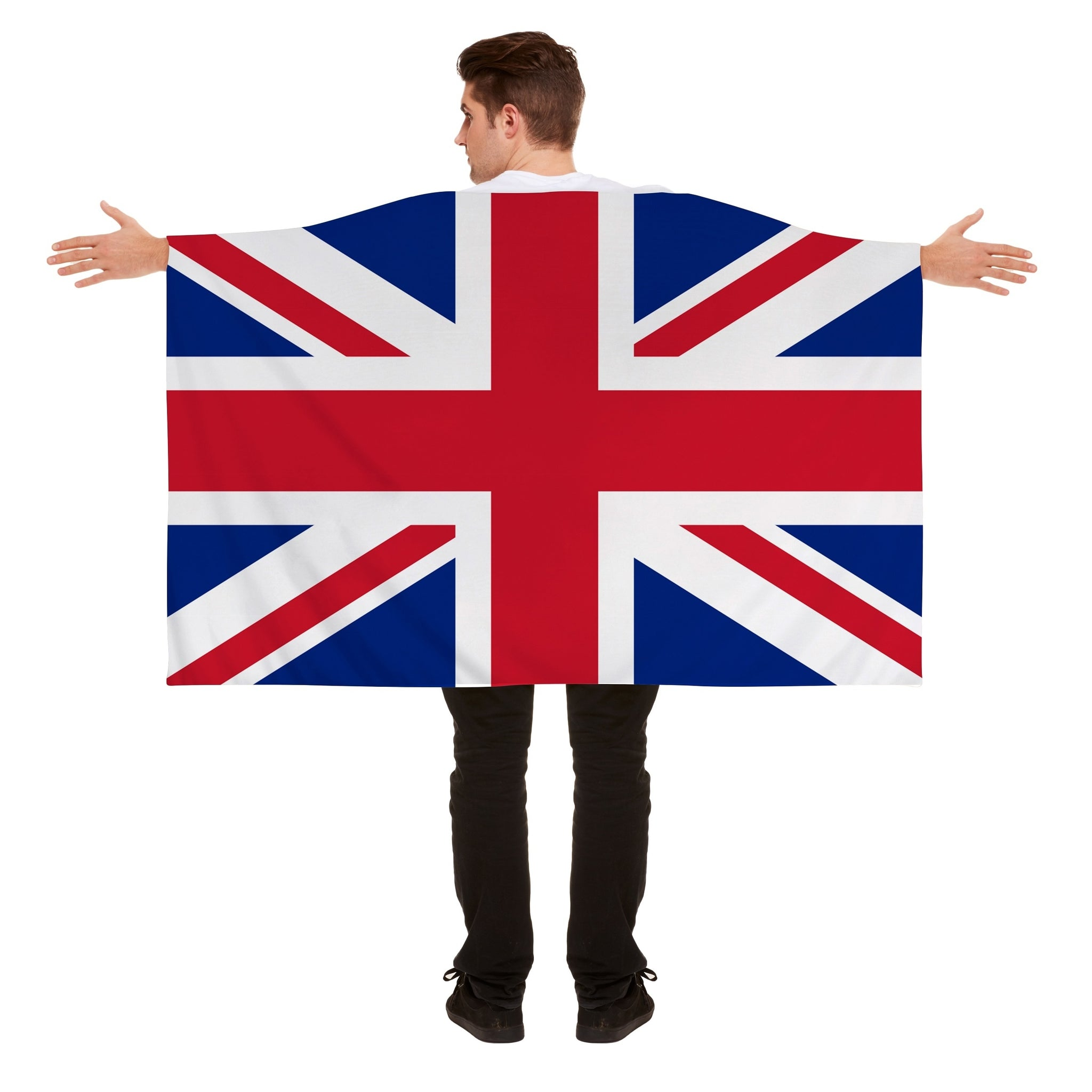 Wearable British Union Jack Flag Cape 5ft x 3ft