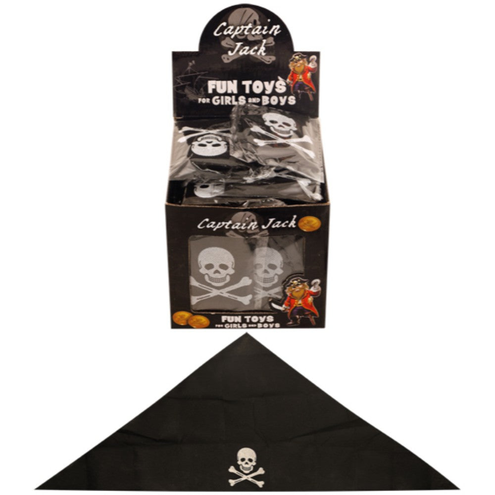 Pirate Bandana 74X29Cm Black With Skull Child (48 Pack)