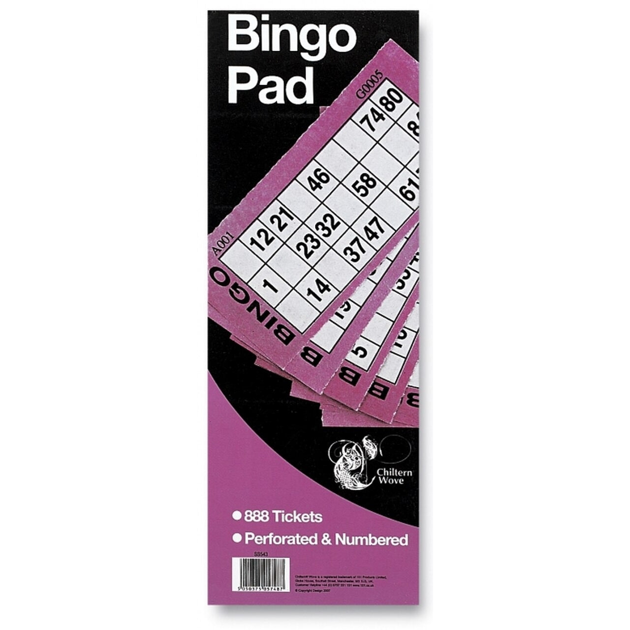Bingo Ticket Pad (888 Tickets)