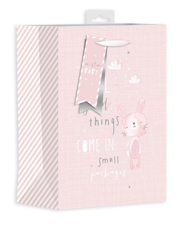 Baby Bunny Pink Medium Gift Bag