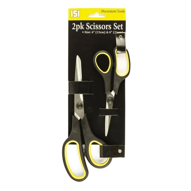 Scissors with Plastic Handle (2 Pack)