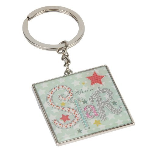You're a Star keyring - Laura Darrington patchwork collection with pastel stars