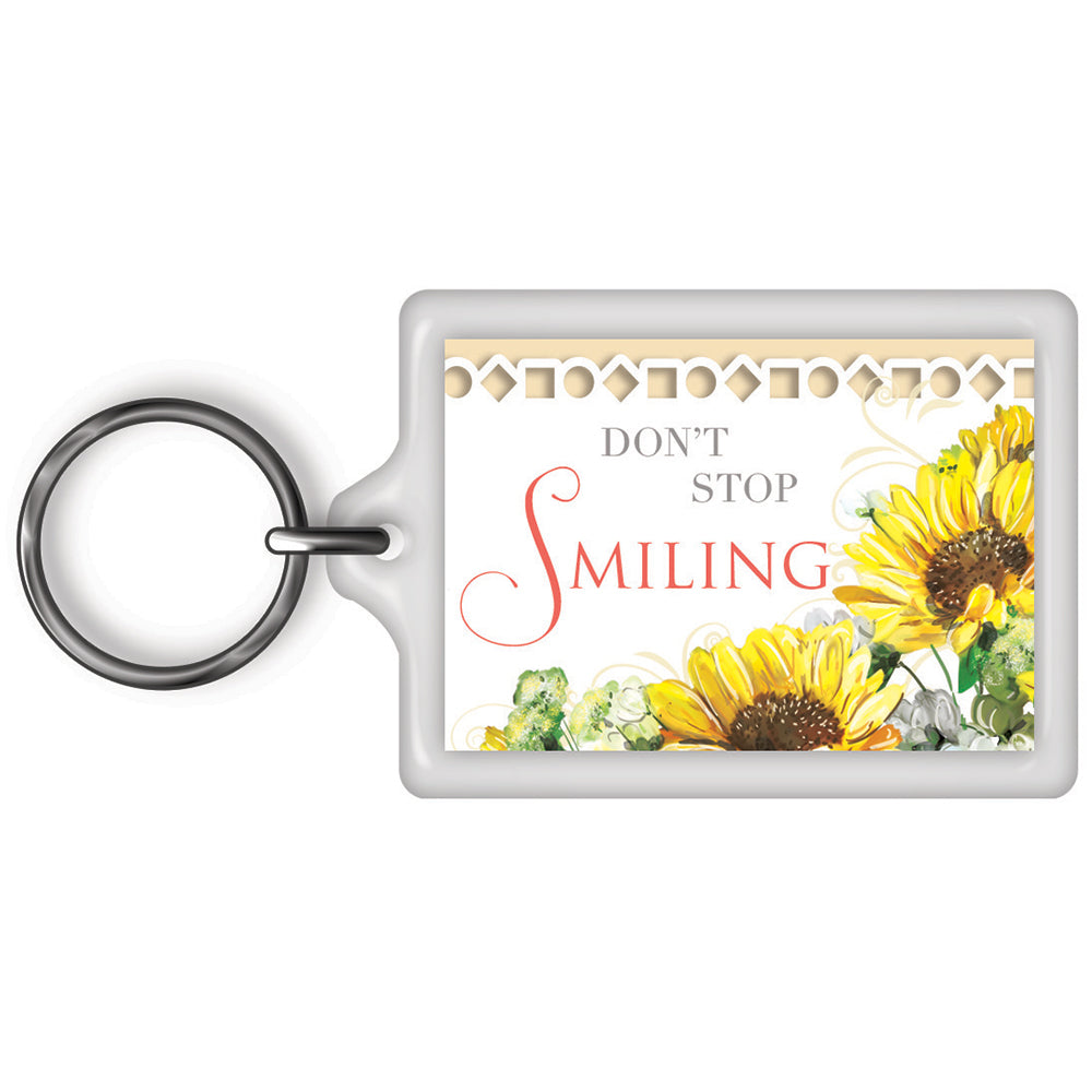 Don't Stop Smiling Celebrity Style World's Best Keyring