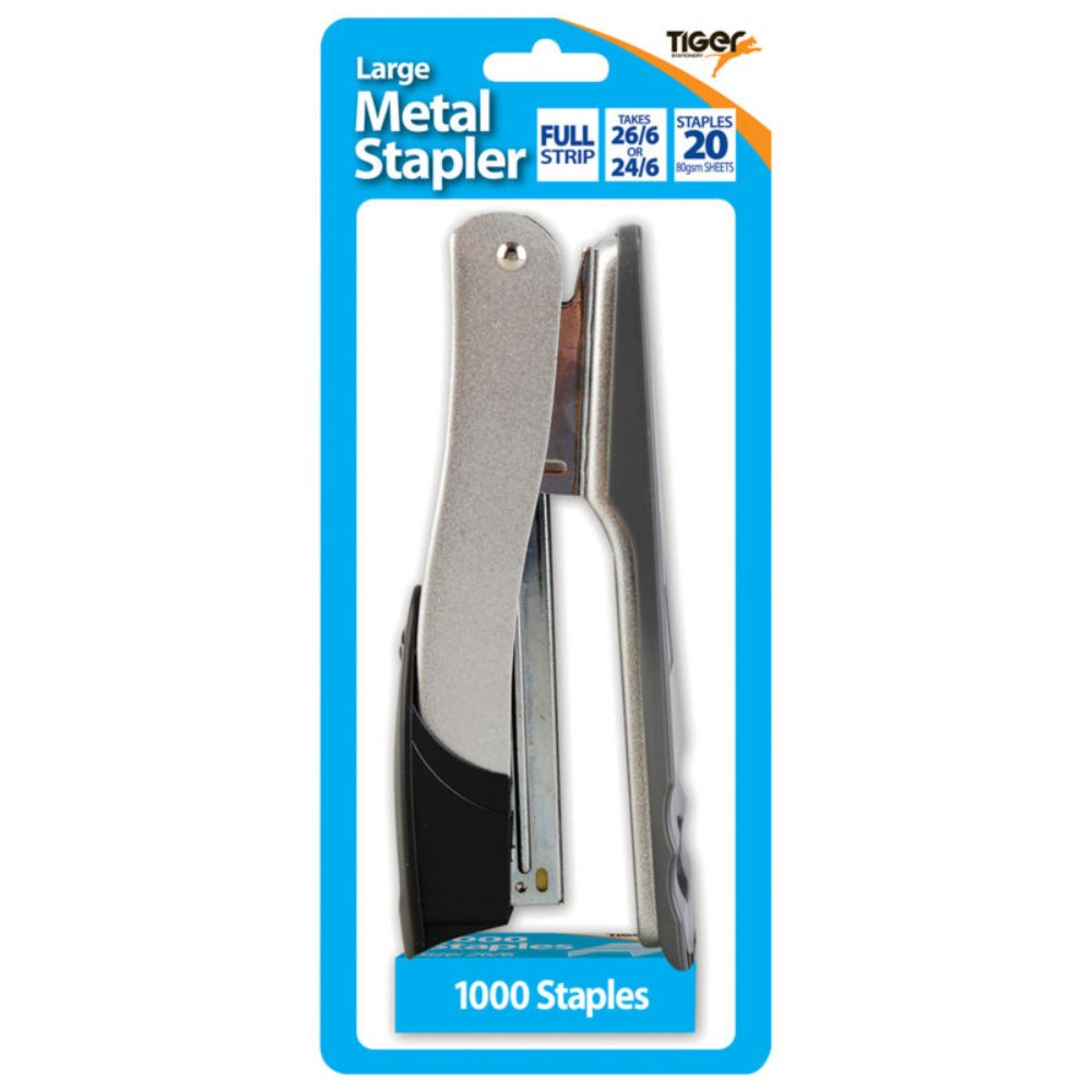 Large Metal 26/6 Stapler and 1000 Staples