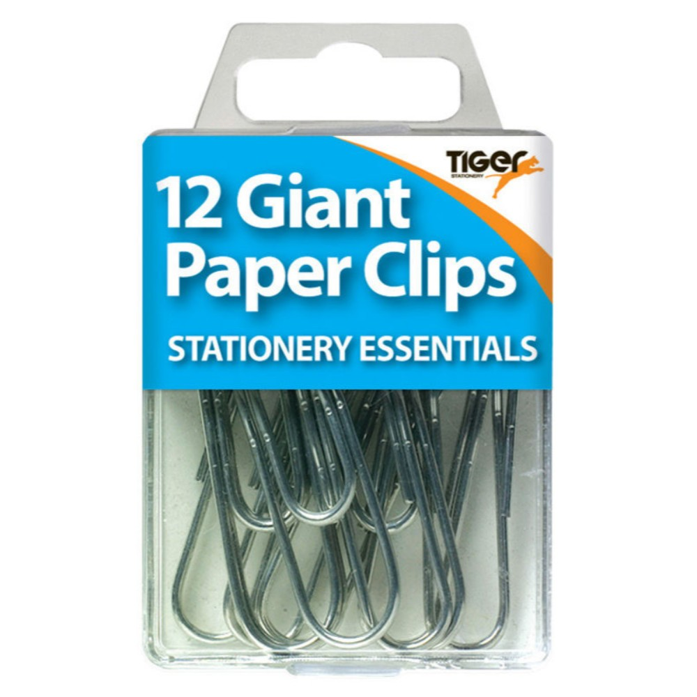 Pack of 12 Giant Paper Clips
