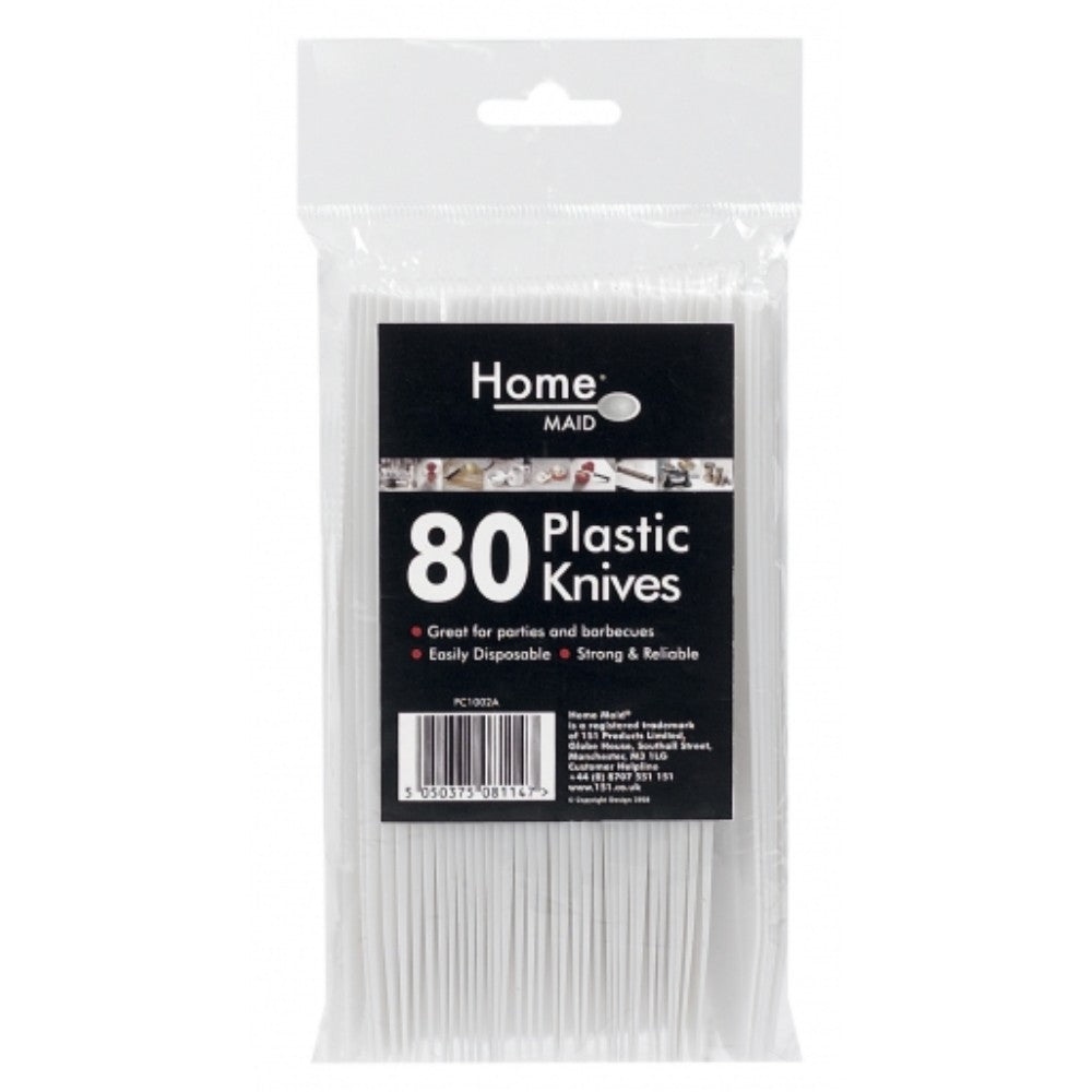 80 Pack Disposable Plastic Knives