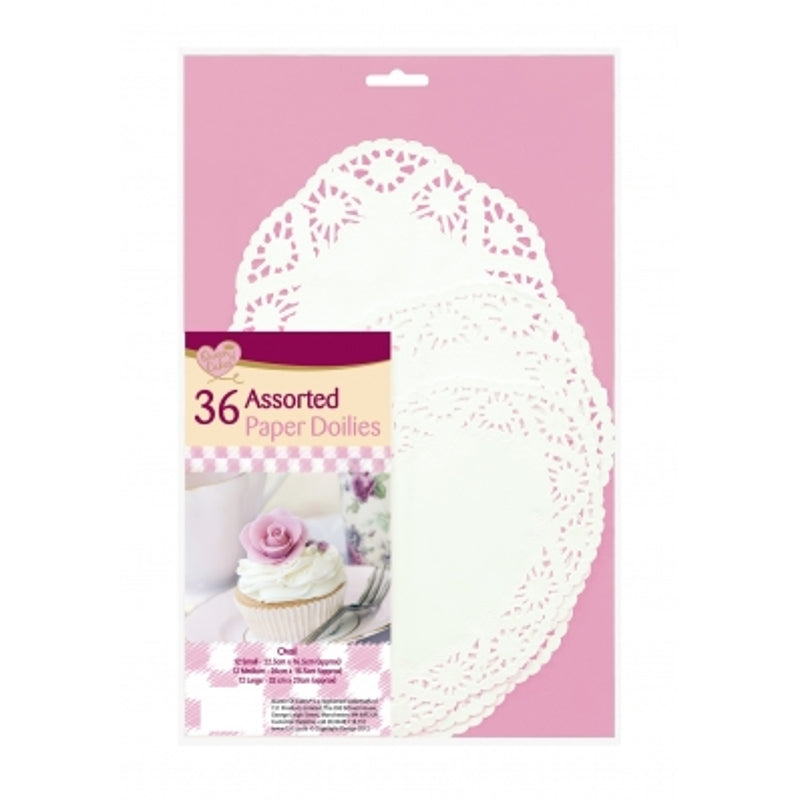 36 Assorted Paper Doilies
