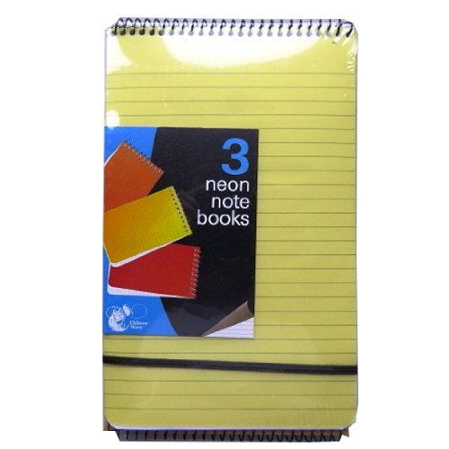 Neon Note Books 210mm x 128mm (3 Pack)