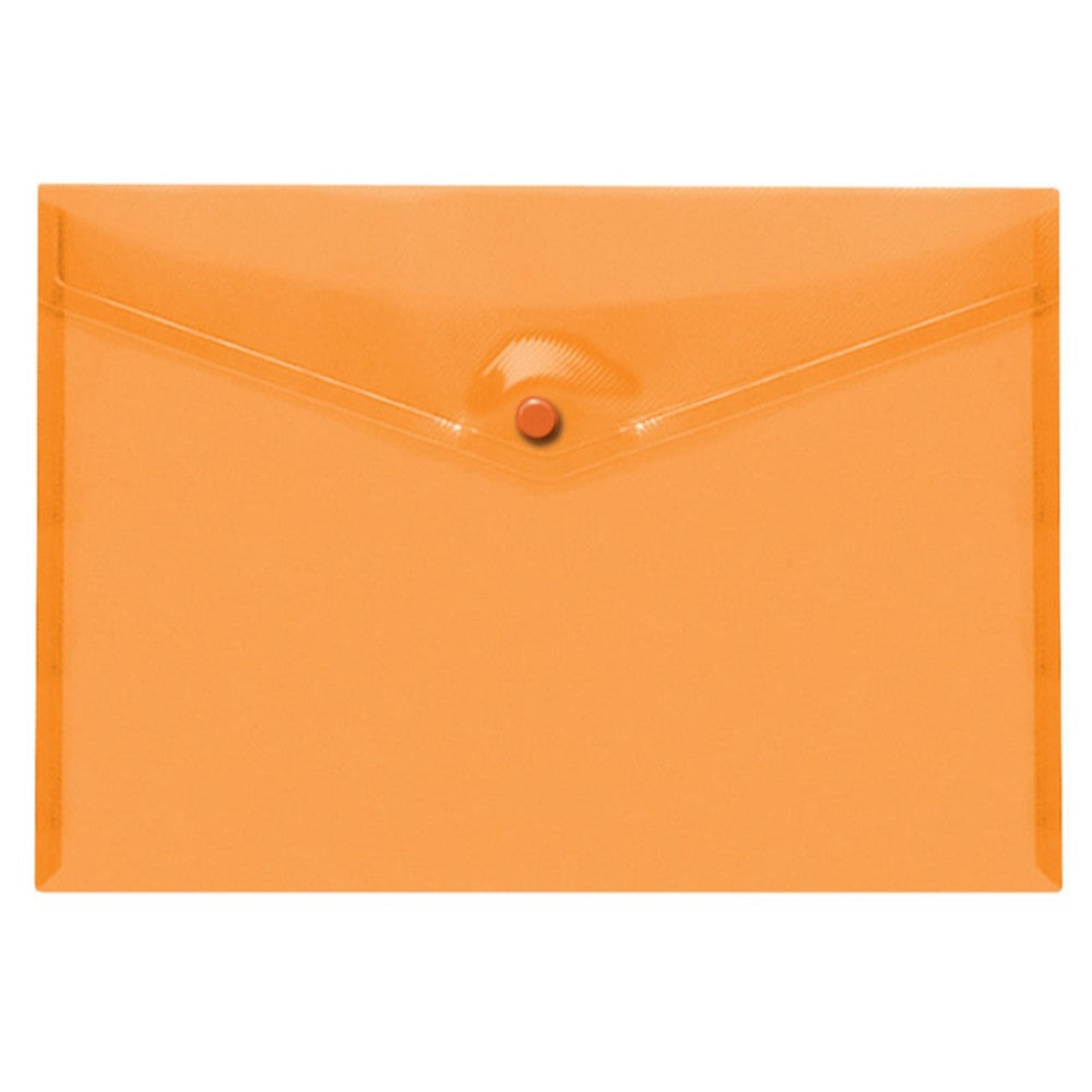 Pack of 25 Orange A4+ Foolscap Stud Document Wallets