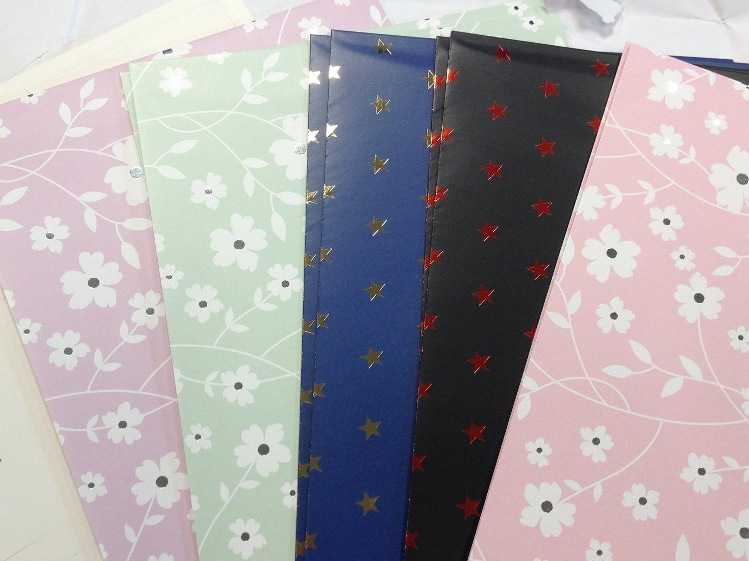 10 Sheet of Mix Design Designer Soft touch Foiled Giftwrap