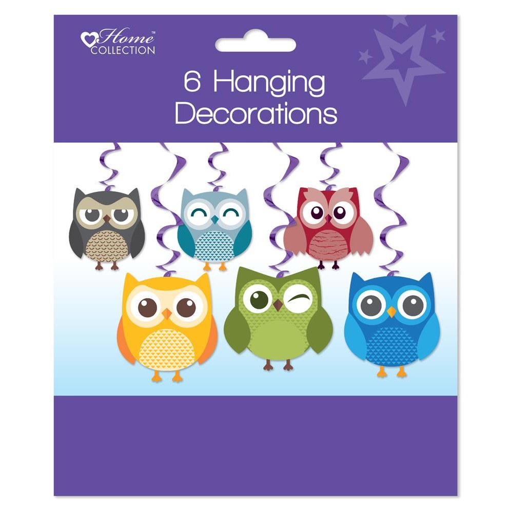 Pack of 6 Woodland Party Hanging Decoration