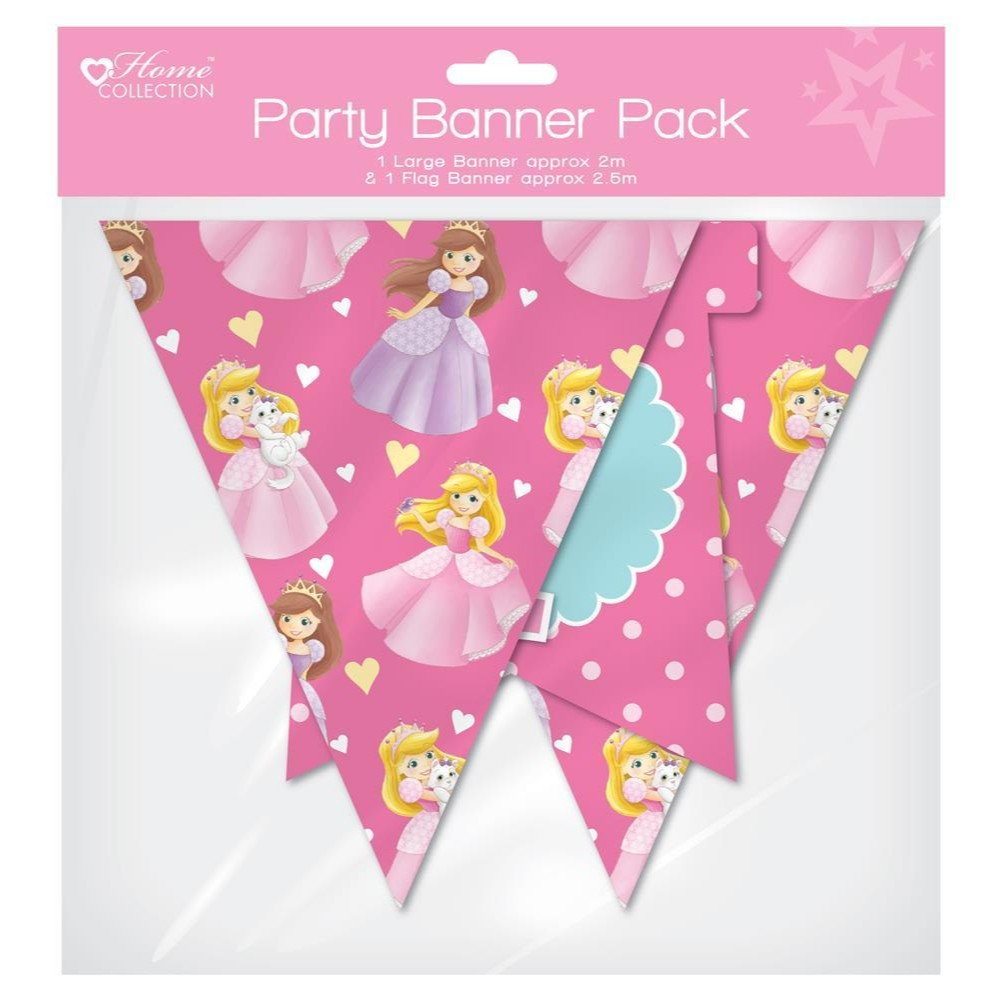 Princess Design Flag Banner Pack - Princess Party