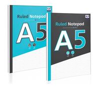 A5 Stationery Ruled Notepad 140 Sheet