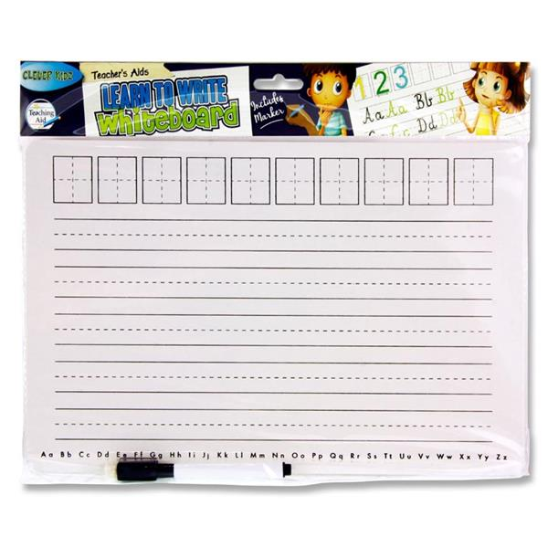 Teacher's Aid Learn to Write Whiteboard with Marker by Clever Kidz