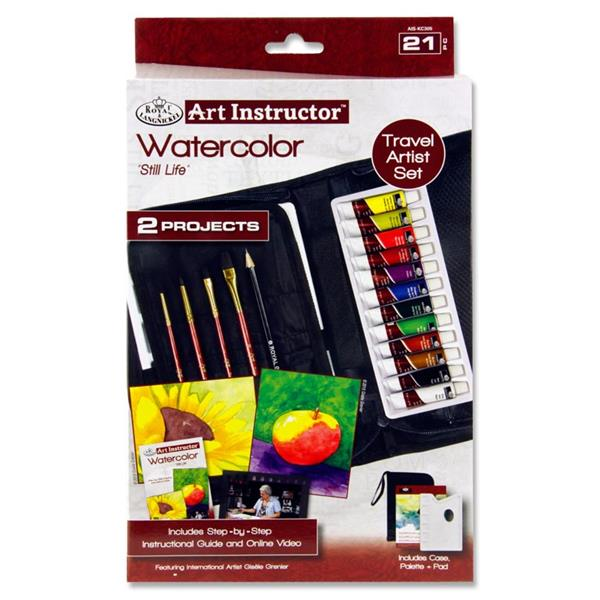 Art Instructor 21 Pieces Watercolour Paint Travel Set by Royal & Langnickel