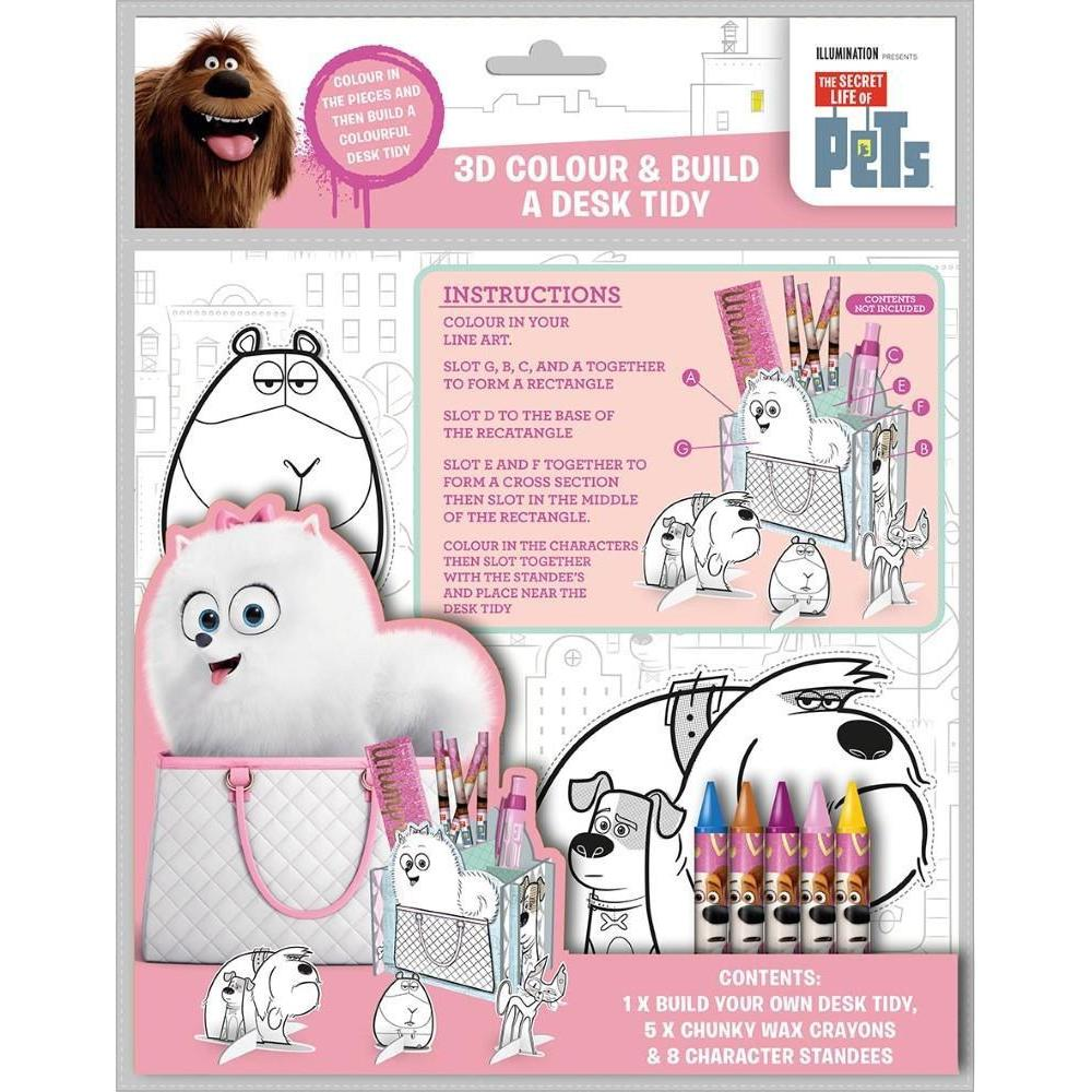 The Secret Life Of Pets 3D Colour & Build A Desk Tidy