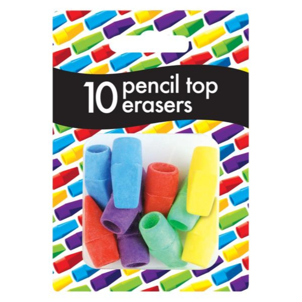 Pack 10 Pencil Top Erasers