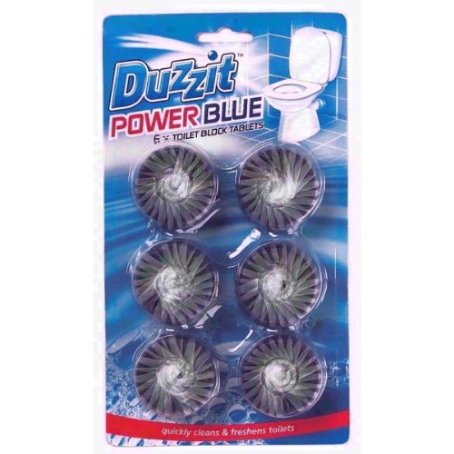 Pack of 6 Duzzit Power Blue Toilet Block Tablets