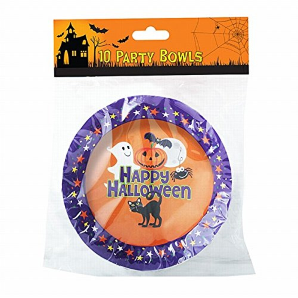 "Pack of 10 6.5"" Halloween Party Bowls"