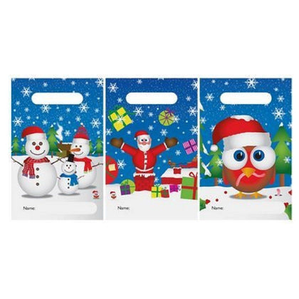 Pack of 6 Christmas Party Bags Assorted Design