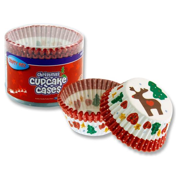 Tub of 100 Christmas Cupcake Cases by Crafty Bitz